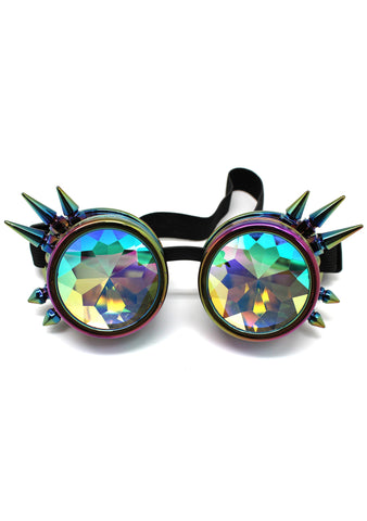 7 LUXE Dragon Slayer Kaleidoscope Goggles in Iridescent Rainbow