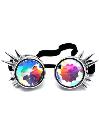 7 LUXE Dragon Slayer Kaleidoscope Goggles in Silver