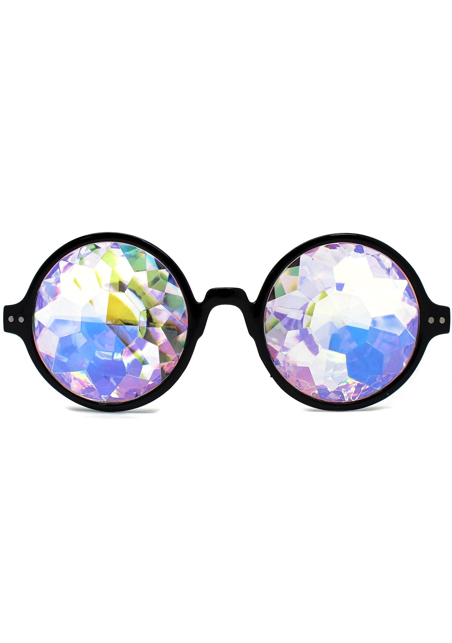 Dreamland Kaleidoscope Sunglasses in Black