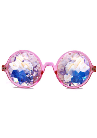 Dreamland Kaleidoscope Sunglasses in Pink