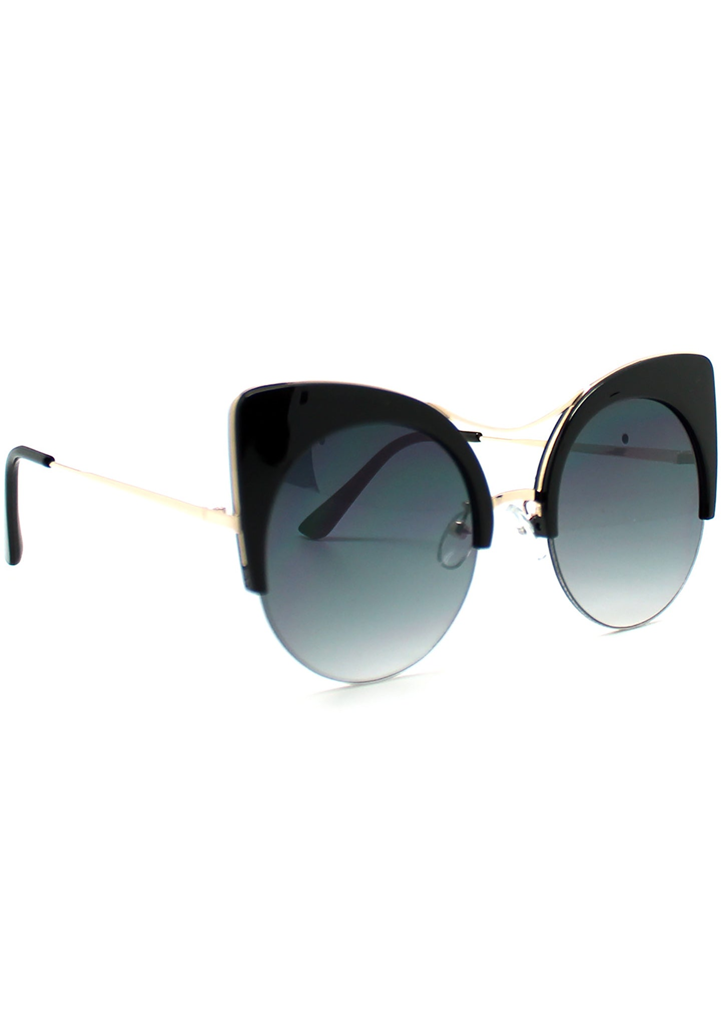 7 LUXE Electric Cat Mirrored Sunglasses