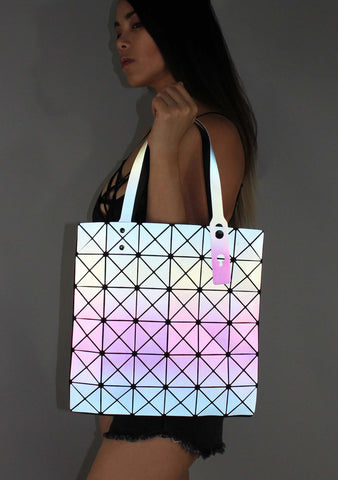7 LUXE Electric Nights Reflective Tote Bag