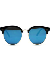 7 LUXE Electric Sky Mirrored Sunglasses
