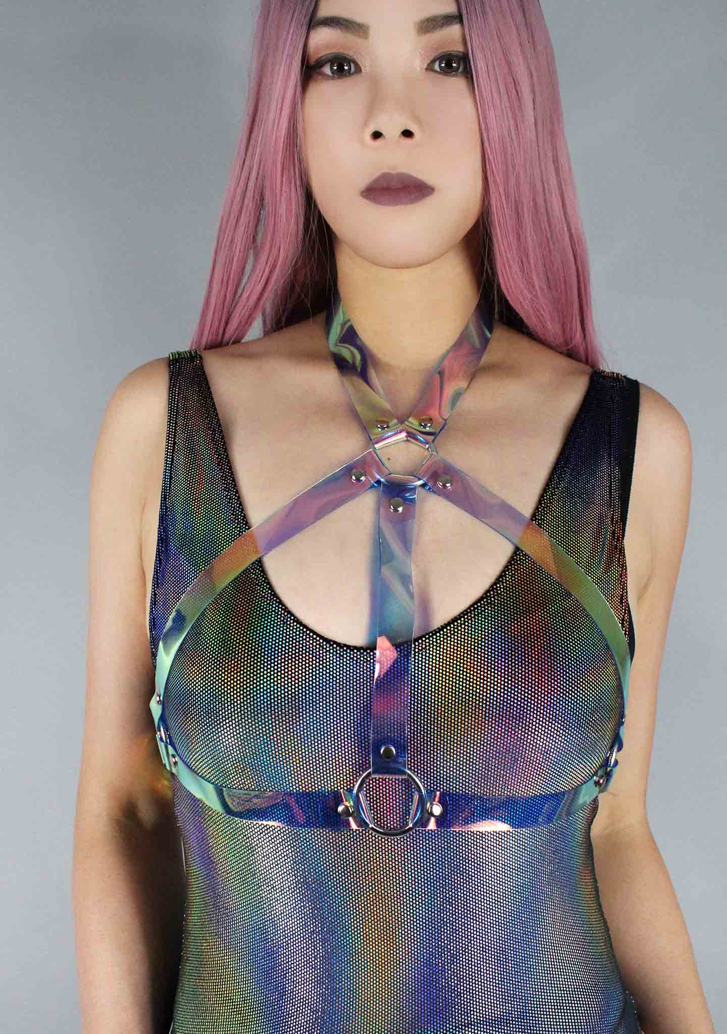 Galactic Body Harness in Holographic Blue