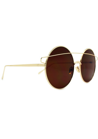 7 LUXE Galaxy Sunglasses Gold/Brown