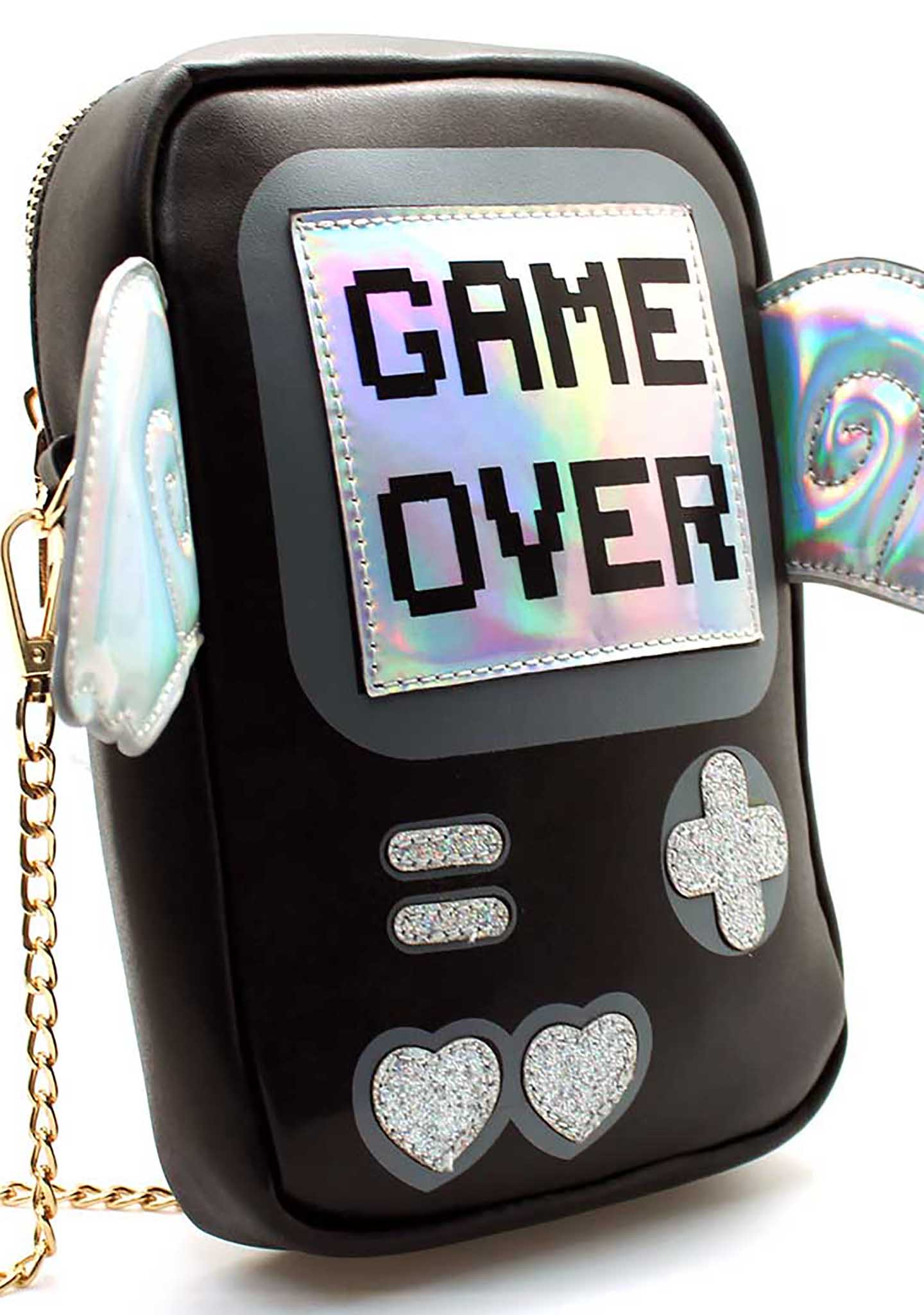 7 LUXE Game Over Crossbody Bag in Black