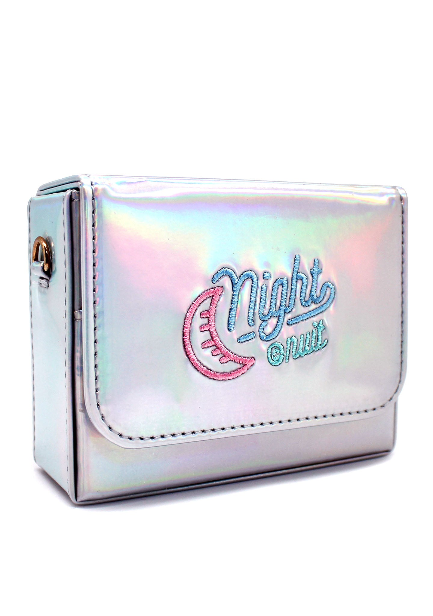 Night Out Crossbody Bag in Holographic Silver