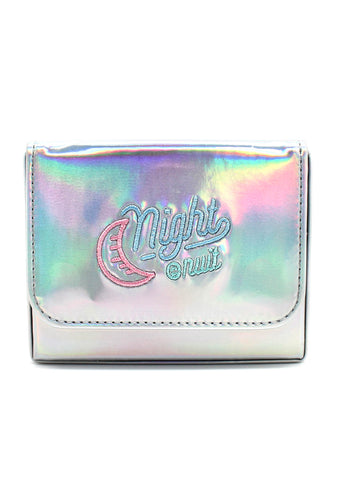 7 LUXE Night Out Crossbody Bag in Holographic Silver
