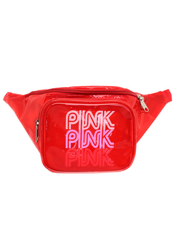 Pink Lady Jelly Fanny Pack in Red