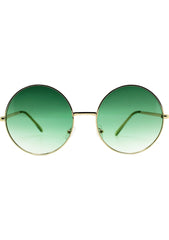 7 LUXE Sunrise Fade Sunglasses Gold/Green