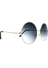 7 LUXE Sunrise Fade Round Sunglasses Silver/Black
