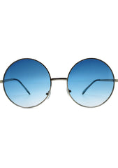 7 LUXE Sunrise Fade Sunglasses Silver/Blue