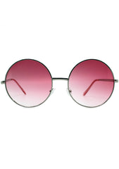 7 LUXE Sunrise Fade Sunglasses Silver/Red