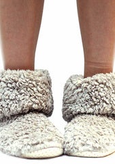 7 LUXE Winter Bootie Slippers in Beige