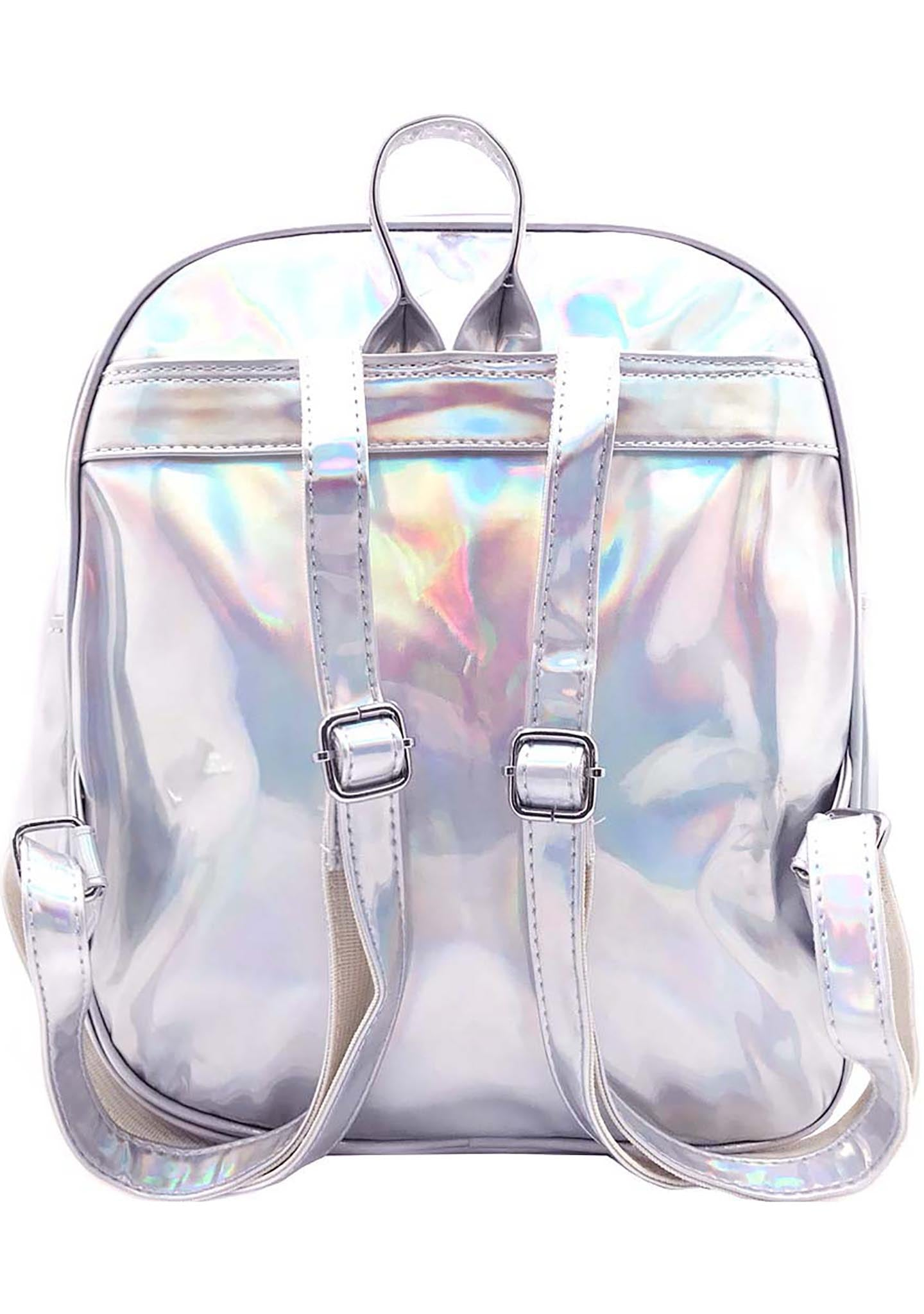 7 LUXE Yours Truly Holographic Mini Backpack