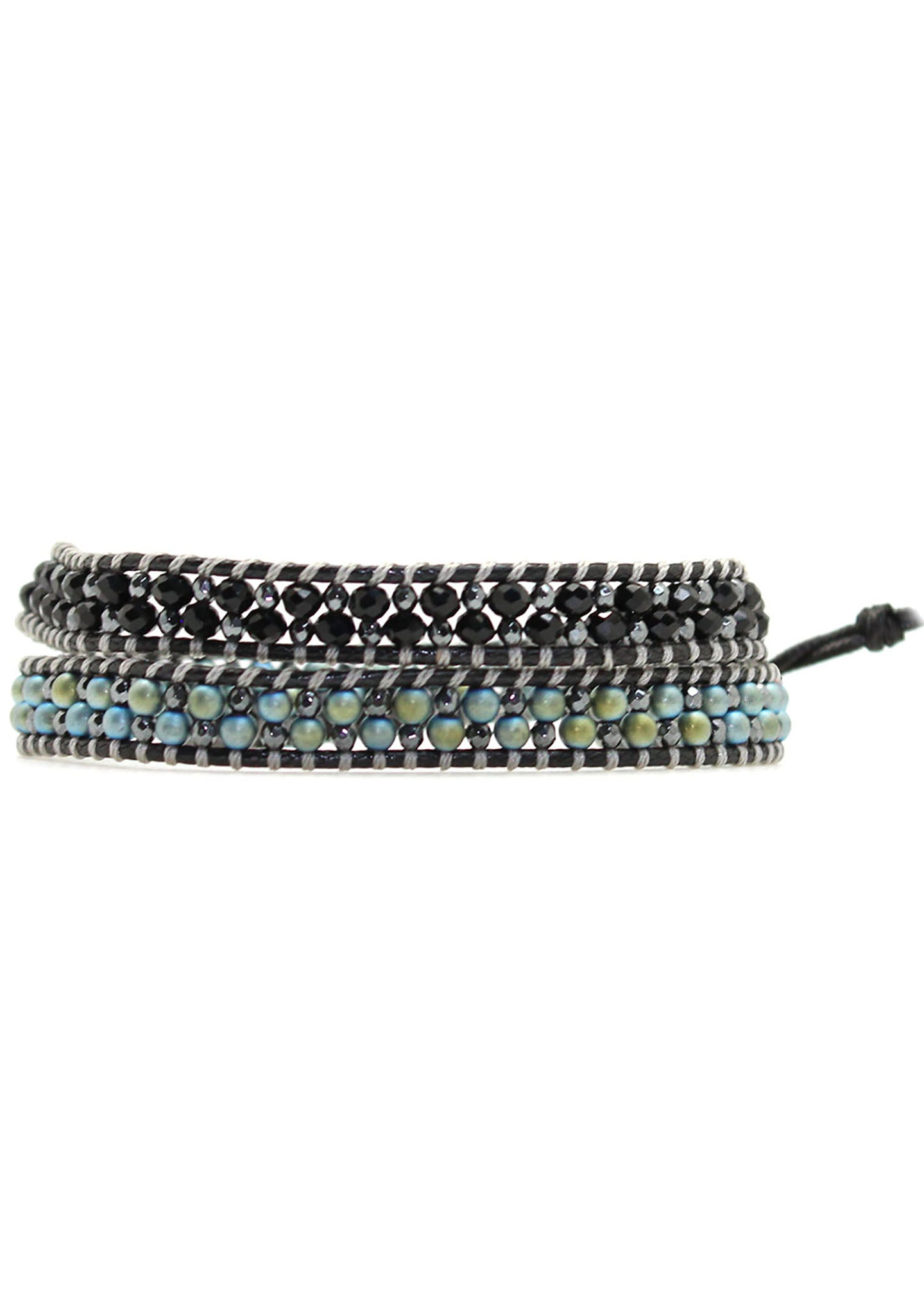 7 LUXE X Katie Soleil Agave Double Wrap Beaded Bracelet