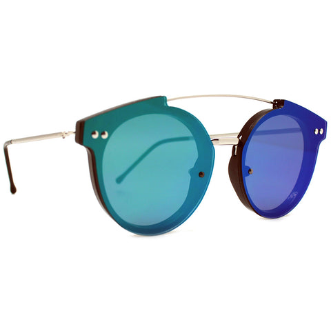 Spitfire Trip Hop 2 Sunglasses in Silver/Green