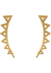 DOGEARED Turn It Up Open Triangle Ear Crawler Earrings in Gold