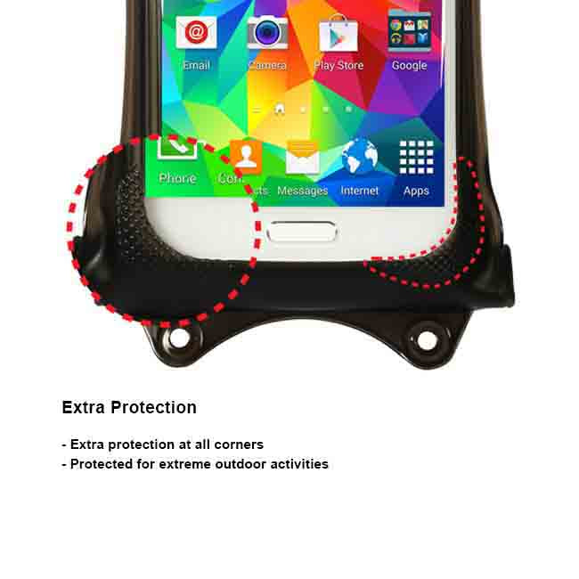 "DiCAPac 5.1"" Universal Waterproof Smartphone Case in Black"