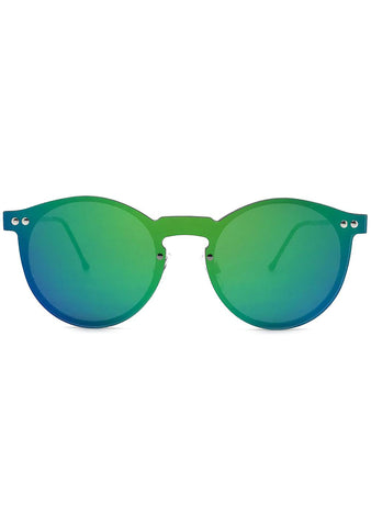 Spitfire Orphius Sunglasses in Silver/Green