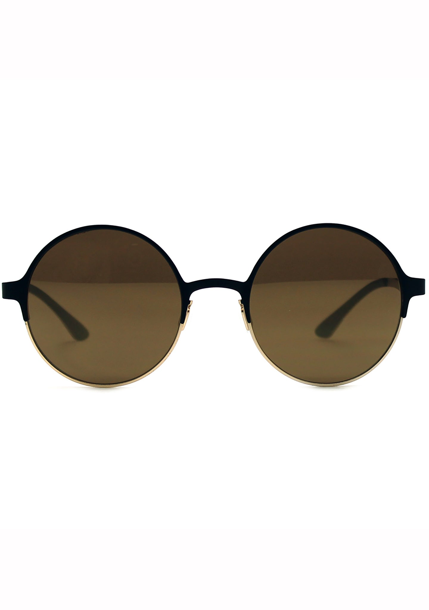 Adidas Originals Round Mirror Metal Series Sunglasses in Black/Gold