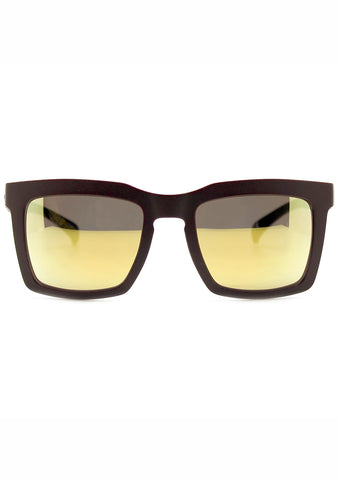 Adidas Originals Oversized Square Mirror Sunglasses in Brown/Gold