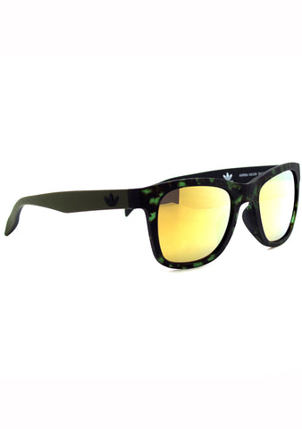 Adidas Originals Square Mirror 2.0 Sunglasses in Green Tortoise/Gold