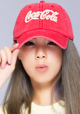 X Coca-Cola Vintage Raglan Hat in Red