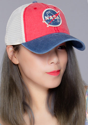 NASA Hanover Hat in Red Navy