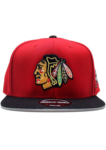 American Needle Chicago Blackhawk NHL 400 Series Flat Brim Snapback Hat