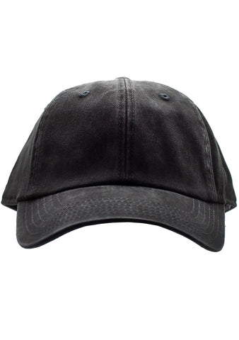 American Needle Blank Raglan Washed Hat in Black