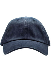 American Needle Blank Ragaln Washed Hat in Navy