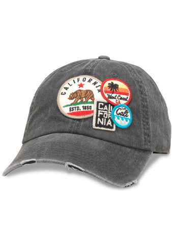 American Needle Cali Iconic Raglan Hat in Black