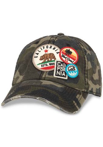 American Needle Cali Iconic Raglan Hat in Camo