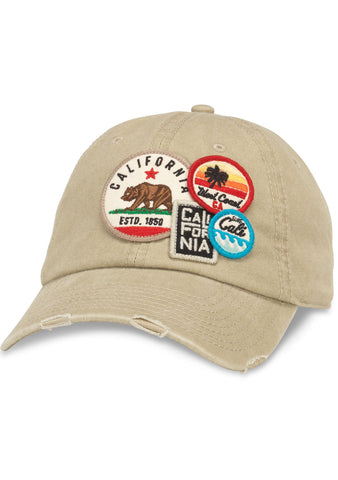 American Needle Cali Iconic Raglan Hat in Khaki