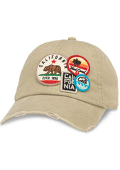 Cali Iconic Raglan Hat in Khaki