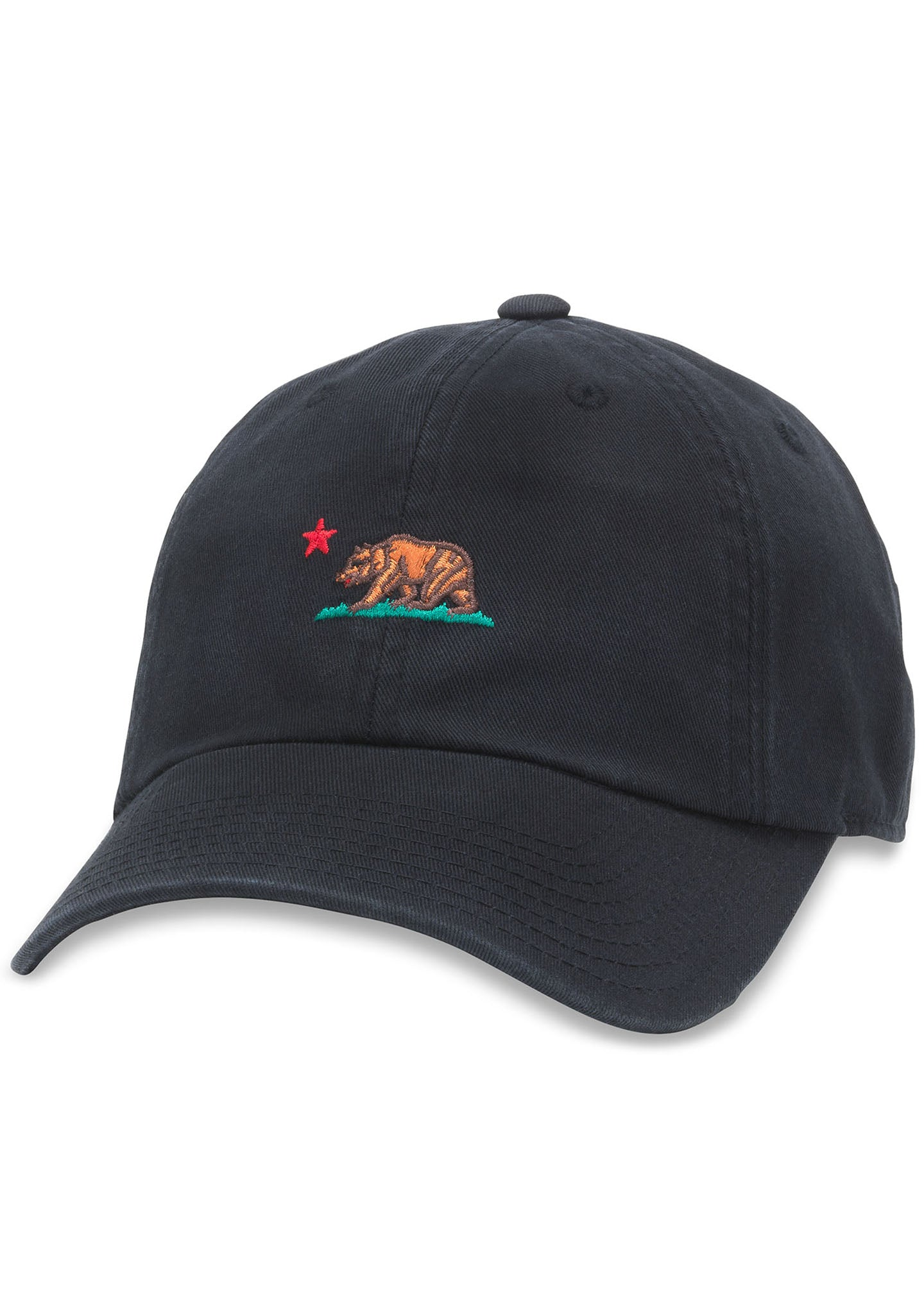 4c60eaba18f35 California Bear Micro Dad Hat in Black