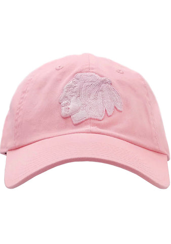 American Needle CHI Blackhaws Blue Line Tonal Hat in Pink