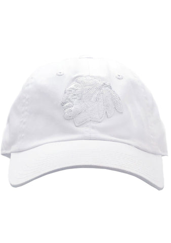 American Needle CHI Blackhaws Blue Line Tonal Hat in Snow