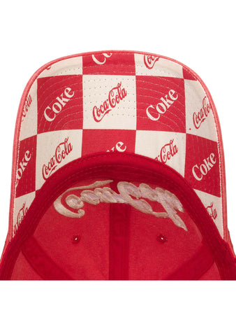 American Needle X Coca-Cola Fade Wash Raglan Hat in Red/White