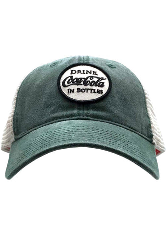 American Needle X Coca-Cola Old School Hat in Green/White