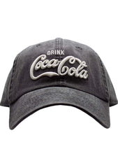 American Needle X Coca-Cola Vintage Raglan Hat in Black