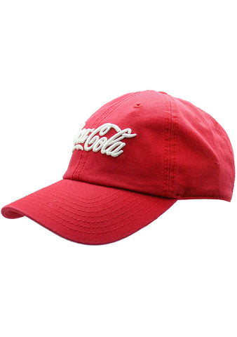 American Needle X Coca-Cola Wash Raglan Hat in Red/White