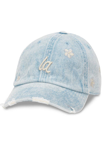 American Needle Los Angeles Daisy Round Up Baseball Hat Denim