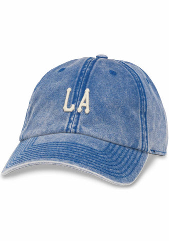 American Needle Los Angeles Elston Baseball Hat in Faded Denim