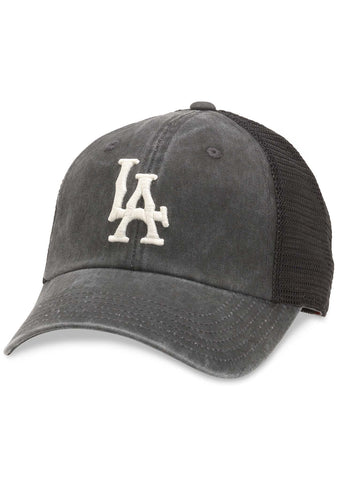 Los Angeles Raglan Bones Hat in Black