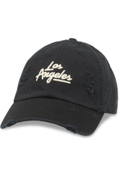 Los Angeles Shred Slouch Raglan Hat in Black