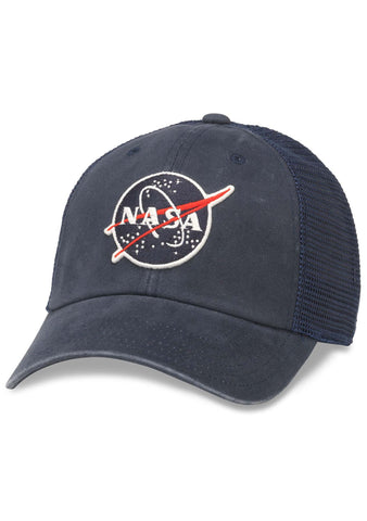 American Needle NASA Raglan Bones Hat in Navy