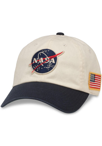 American Needle NASA United Slouch Baseball Hat in Ivory