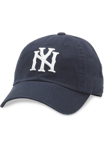 American Needle New York Bones Ballpark Hat in Navy